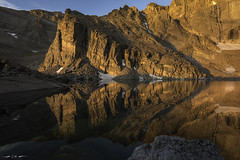 The Ship's Prow (courtney_meier) Tags: chasmlake colorado coloradorockies landscape nationalpark rockymountainnationalpark rockymountains shipsprow southernrockies theshipsprow usnationalpark alpenglow alpine dawn highelevation magichour morning mountains reflection sunrise water