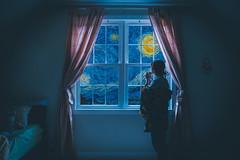 hello, moon (lauren zaknoun) Tags: conceptual conceptualphotography darkphotography fairytale girl night nightphotography painting starrynight surreal surrealphotography vangogh vincentvangogh moon stars cosmic