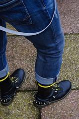 DSRL-9 (1356x2048) (Stevecollection2008) Tags: pentaxk5ii pentaxsmcda35mmf24al drmartenssteeltoe1940zblackfinehaircell topmanbraces topshop tommyhilfigerstokesjeans goi poloshirt yellowlaces yellowtipped ralphlauren denimsupply flightjacket bomberjacket bootstraps