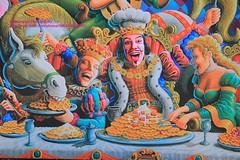 Adelaide, Glenelg, waffle-shop decoration (blauepics) Tags: australia australien south südaustralien adelaide glenelg city stadt waffle shop waffel laden display colourful farbige werbung decoration