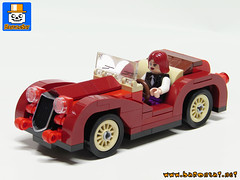 ROADSTER Front (baronsat) Tags: lego model custom moc vehicle cars trucks city roadster minifig scale size hot rod 1930 racer drag racing mafia mob baronsat