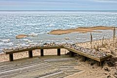 Lake Michigan View........ (smiles7) Tags: lakemichigan ice birds spring
