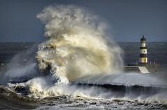Seaham Harbour, Co Durham (DM Allan) Tags: stormy seas seaham coast waves lighthouse durham weather