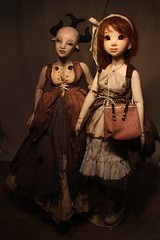 Geni and Isabel looking fancy (abrowin) Tags: bjd artist doll rowindoll geni isabel genevieve