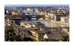 Firenze bridges over Arno (W Gaspar) Tags: firenze florence arno river toscana tuscany italia italy cityscape urban europe europa fiume photoborder nikon nikkor v1 1030mm travel wgaspar buildings heritage architecture city
