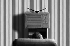 Everyday life 2 (marinamarinsky) Tags: marinamarinsky conceptualart conceptualphotography conceptualphoto vintage vintaart vintagephoto retro retrophoto fineart fineartphoto artphoto artphotography tv psychedelic bw bnw blackwhite blackandwhitephoto