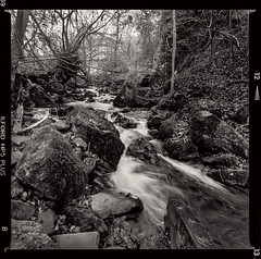 Bronica SQ-A-007-8 (michal kusz) Tags: bronica sqa ilford hp5 iso 400 ddx epson v600 zenzanon edinburgh river rocks medium format 6x6 monochromatic toned frame scanned
