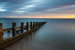 _D3_9157 (Simon Wootton) Tags: edinburgh sunrise sea water groynes beech portobello sand horizon colour scotland