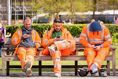 15/52 On The Phone. (Suggsy69) Tags: nikon d5200 1552 52weekproject onthephone lunchbreak workmen rest restin sit sitting london southbank hivis week152017 52weeksthe2017edition weekstartingsundayapril92017 people men