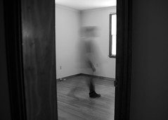 IMG_1334 (e08avenger) Tags: ghost black white photographs spooky fake horror haunted haunting staged old house motion blur monochrome