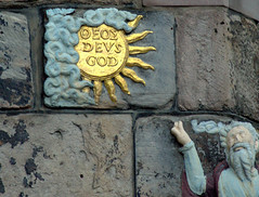 Moses depicted pointing to the sun on a sundial on the corner of John Knox's House on the High Street, Edinburgh, (Tony Worrall) Tags: scotland scottish north country place visit area county attraction open stream tour scots uk tourist edinburgh city capital centre wall sign sun relic olden made sculpture art blocks sunsign latin quirky historic history mosesdepictedpointingtothesunonasundialonthecornerofjohnknoxshouseonthehighstreet moses depicted pointing sundial corner johnknoxshouse