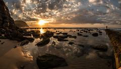 Reflecting on Easter (OzzRod) Tags: pentax k1 smcpentaxda1017mmf3545fisheye fisheye sunrise reflection sky clouds rocks shoreline sunburst barbeach newcastle australia singleinapril2017 pentaxart
