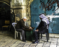 Arab Men Playing Backgammon (Corey Jackson) Tags: arab israel jerusalem backgammon middle east middleeast games
