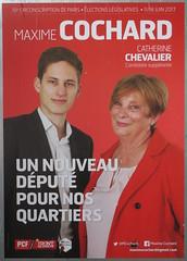 Maxime Cochard (emmanuelsaussieraffiches) Tags: affiche politique political poster particommunistefrançais frontdegauche