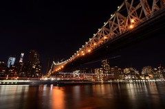 Roosevelt Island,03.11.16 (gigi_nyc) Tags: rooseveltisland nyc newyorkcity nycskyline newyorkskyline eastriver night nightshots reflections queensborobridge