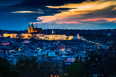 The castle at dusk (James Jacques) Tags: sony a7 handheld dusk carl zeiss sonar 135mm 35 color colour city night beautiful sky castle lights prague praha clouds gothic cathedral