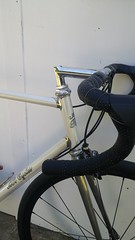 20170423_171603 (AR Cycles) Tags: ar cycles custom columbus true temper ox platinum kva stainless steel henry james lugs lugged road bike mechanical shimano dura ace pearl white paint polished fillet stem chrome internal cable routing