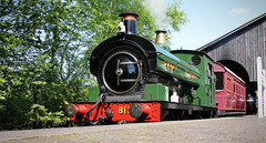 Saddle Tank 813 at Didcot Railway Centre (Daz85) Tags: steam train rail railway steaming loco locomotive gwr great western sadle tank 060 severn valley canon 60d photography photo heritage preserve preservation track carriage coach old era didcot parkway station platform