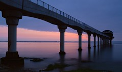 Bembridge at Dawn (hall1705) Tags: bembridgeatdawn longexposure rnli lifeboat sea seascape shore seaside isleofwight d3200 hampshire blue dawn rocks reflection structure