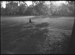 Person Meditating to Sunrise (Robert Aphot) Tags: agat18k agat 18k half frame halfframe monochrome blackandwhite lomography industar 28mm meditation fomapan индустар