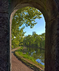 View on a creek through a bridgewindow (Myk499 - Pure & Simple.) Tags: myk499lumia550 outdoor creek nature framed landscape water trees