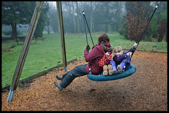 7th of January 2017 (Paul of Congleton) Tags: diary january 2017 stephanie steph rebecca becky katherine katie family playing swing playground jodrellbank lovell arboretum cheshire england uk digital sony rx100