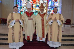 New Deacons with Bishop Persico and Bishop Emeritus Trautman