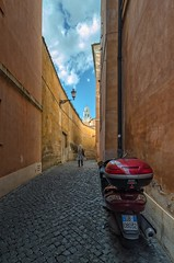 """Oh, the streets of Rome..."" (Glen Zazove) Tags: rome italy italian street motorscooter susuki cobblestone"