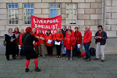 The Liverpool Socialist Singers at the service (James O'Hanlon) Tags: international workers memorial day internationalworkersmemorialday service liverpool 2017 malcolmkennedy deputy mayor cllr malcolm kennedy wreath public pier head georges dock mersey tunnel