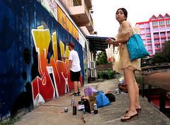graffiti and streetart in bangkok (wojofoto) Tags: graffiti streetart bangkok thailand wojofoto wolfgangjosten action rhok