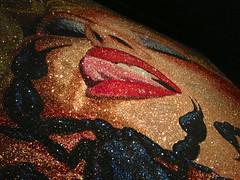scorpion wants tongue (misterbisson) Tags: tongue glitter painting scorpion arachnids