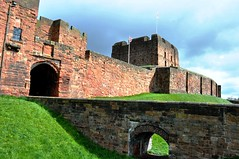 Carlisle Castle and her bridge over the moat. (Raymondo166) Tags: old city bridge castle wall proud still war many threatening over her looks conflict walls moat carlisle impressive stands olde survived turmoil