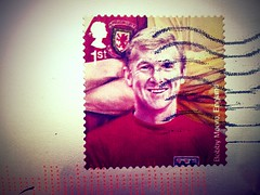Bobby Moore Royal Mail Stamp (AMIAFAD) Tags: england mail 1st royal class stamp moore bobby footballer flickrandroidapp:filter=none