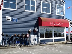 Godzilla in Steveston (Sockeye City Grill) Tags: godzilla steveston