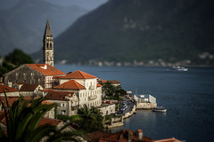Perast - St. Nicholas Church (Montenegro) (MLazarevski) Tags: sea church architecture miniature tilt seashore montenegro perast tiltshift