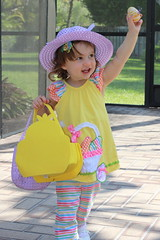 Easter Is... (Asclepian) Tags: smile yellow kids toddler egg easterbasket