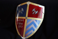 Sir Cedric's Shield (Tsabo Tsaboc) Tags: knights impact cedric shield sir props hillsdale sculpting