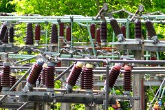 Power (Mankyoldpiano) Tags: danger high power electricity mains transmission substation launceston voltage insulators