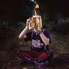 COVER_UP (Paula Ohmann) Tags: forest paper fire book pages flames fine books sheets burning burn questionmark burned burnbook