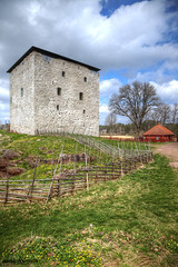 Kastelholma castle (penttja) Tags: blue sky seascape building green castle grass clouds canon fence finland landscape spring colorful flickr seashore hdr aland land ahvenanmaa kastelholma