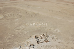 Qasr el-Hallabat (APAAME) Tags: flight2 flying2006 fort reservoir roman tomb umayyad village cistern digitalcamera mansion mosque aerialarchaeology aerialphotography middleeast airphoto archaeology ancienthistory