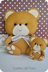 Urso (Casinha de Pano) Tags: bear handmade felt feltro urso chaveiro lembrancinhas enfeitedequarto