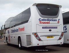 Caledonian Travel LSK514 (Joe (Norwich Bus Page)) Tags: travel volvo elite caledonian nbp plaxton b9r norwichbuspage lsk514