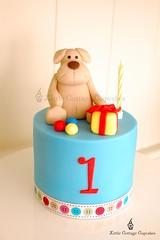 Isaac's Birthday Cake (Little Cottage Cupcakes) Tags: birthday boy dog cake 1stbirthday fondant sugarpaste littlecottagecupcakes