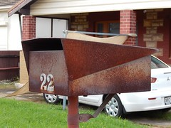 Rusted and Looking Good (mikecogh) Tags: mailbox 22 uniform rusty letterbox frontyard lid