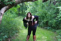 IMG_1917 (KuriTheElf) Tags: cosplay wildlife elf corset redhair lyna blacktights leatherboots