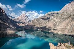Iskanderkul Lake (damonlynch) Tags: panorama mountain lake nature water ecology scenery asia panoramic land environment tajikistan centralasia mountainlake environmentalism ecosystem glaciallake ayni iskanderkul sughd sughdprovince iskanderkullake