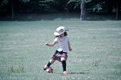 SAKURAKO - Soccer training. (MIKI Yoshihito. (#mikiyoshihito)) Tags: japan sapporo picnic hokkaido daughter sakurako 娘 ピクニック 平岡公園 さくらこ 櫻子 サクラコ 4歳8ヶ月