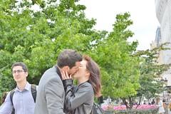 2013-06-22 -  Les amoureux de Notre-Dame (P.K. - Paris) Tags: street people paris june french juin kiss kissing couple candid lovers amour bisou lover smack baiser amoureux 2013 photosderue gensdanslarue