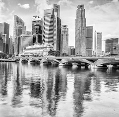 Singapore financial district (anekphoto) Tags: city blue urban white haven building tower nature water skyline architecture marina asian bay harbor high singapore colorful asia downtown cityscape exterior waterfront view bright outdoor many vibrant famous sightseeing vivid landmark center landing financialdistrict business commercial embarcadero metropolis tall traveling moor bund embankment settlement skycraper berth waterscape marinabay